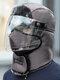 メンズ&レディースフェイクレザーウォーム防風イヤーフェイスアイプロテクションアウトドアライディングトラッパーハット - #12