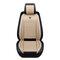 بو الجلود عام مقعد السيارة ضد للماء حصيرة يغطي تنفس وسادة فاخرة غطاء واقي لمقعد السيارة يناسب أربعة مواسم (1 قطعة) - اللون البيج