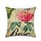 Rose Hug Pillowcase Mediterranean Nordic Style Car Cushion Cover - #6