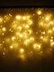 Ghirlanda di Natale LED Tenda Ghiacciolo Luci Stringa Ghirlanda Di Natale Luce Fata Decorazioni Per Feste All'aperto - Giallo