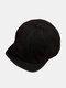 Unisex Cotton Solid Color Soft Short Brim Drawstring Fashion Baseball Caps - Black
