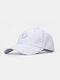 ユニセックスコットン無地幾何学模様刺繡ファッションオールマッチ野球帽 - 白い