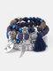 Vintage Multicolor Beautiful Opal Bracelet Temperament Multi-layer Tassel Bracelet - #05