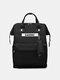 Casual Oxford Splashproof Large Capacity 14 Inch Handbag Backpack - Black