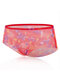 Sexy See Through Mesh Floral Seamless Mid Waisted Panties - Red