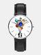 Mens Cartoon Astronaut Colorful Planet Print Quartz Watch - White