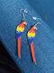 Acrílico Colibrí Paloma Eagle Búho Loro Pendientes Forma de pájaro Pendientes - #07