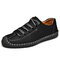 Menico Men Hand Stitching Anti-collision Soft Casual Leather Shoes