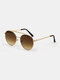 Women And Men Fashion Casual Metal Narrow Rim Full Frame UV Protection Sunglasses - Coffee