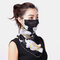 Floral Breathable Printing Masks Neck Protection Sunscreen Ear-mounted Scarf  - 01