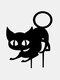 1PC 革新的なアクリルシミュレーション漫画猫屋外の庭の装飾挿入カードアート中空装飾工芸品家の庭の装飾品 - #03