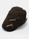 पुरुष पत्र कढ़ाई ठोस रंग आकस्मिक फैशन Sunvisor फ्लैट टोपी आगे टोपी टोपी टोपी - कॉफ़ी