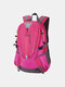Men Oxford Cloth Waterproof Large Capacity Outdoor Climbing Travel Backpack - Rose