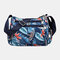 Women Nylon Print Waterproof Anti theft Casual Crossbody Bag Shoulder Bag - #07
