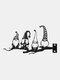 1PCメタルガーデングラスツリーインサートデコレーションノームドワーフハローアウトアートオーナメント - #01