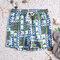رجل منقوشة الوطنية نمط طباعة مجلس السراويل رقيقة شبكة بطانة السراويل الشاطئ مع جيوب