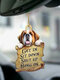 1 PC Animal Lover Two Sided Car Rearview Mirror Hanging Ornament Auto Accessory Puppy Lover Gifts Funny Backpack Keychain Hanging Decor Available for Many Dog Breeds - #03