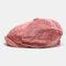 Men Corduroy Fashion Solid Casual Literature Painter Trend Beret Hat Octagonal Hat - Pink