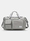 Lightweight Sports Gym Bag with Wet Pocket & Shoes Compartment Travel Duffel Bag Lightweight - Gray
