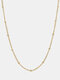 Luxury Stainless Steel Paperclip Chain Women Necklace Heart Pendant Necklace Sweater Chain - #01