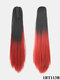 15 Colors Ponytail Gradient High Temperature Fiber Breathable Long Straight Hair Extensions - #04