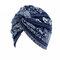 Chapeau style rural en coton turban floral bonnet chimiothérapie pour femme - bleu