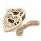 10pcs Natural Wooden Heart Laser Cut Shapes Craft Embellishments Wedding Favors - Heart