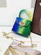 Stylish Pyramid Embellishment Flap Ombre Color Wearable Exquisite Hardware PVC Mini Jelly Coin Bag Crossbody Bag - #05