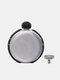 304 Stainless Steel Hip Flask Set Diamond Decor Round Shape Portable 5oz Creative Whisky Wine Alcohol Bottle Bridesmaid Favor Flask Personalized Wedding Party Gifts - Black