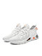 Couple Style Comfy Breathable Knitted Fabric Soft Sole Sneakers Light Weight Running Shoes For Women - White