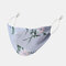 Women Adjustable Printed Chiffon Face Mask Breathable Ethnic Floral Mask - 04