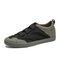 Men Fabric Splicing Non Slip Elastic Band Sport Casual Shoes - Dark Gray