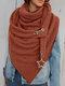 Женское Вельветовые повседневные шарфы с запахом шали Универсальный толстый теплый нагрудник с шалью - апельсин