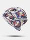 المرأة القطن الأزهار ورقة نمط مطبوعة تو كاب قبعة قبعة إسلامية - #06