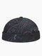 Men & Women Amoeba Print Element Fashion Skull Caps Brimless Cap - #01