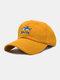 ユニセックス コットン ソリッド カラー サメの手紙刺繍サンシェード ファッション ベースボール キャップ - ウコンの色