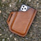 Men EDC Genuine Leather Retro 6.3 Inch Phone Bag - Brown