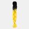 HalloweenColored Gradient Dirty Braids High Temperature Fiber Big Braids Ponytail Hair Extensions - 36