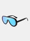Unisex PC Full Frame Colorful One-piece Lens Anti-UV Goggles Fashion Sunglasses - #05
