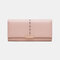 Women Hollow Out Multifunctional Multi-card Slots Photo Card Phone Bag Money Clip Wallet Purse - Pink