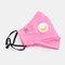 Protective Mask Anti-haze Dust Belt Valve Breathable Cotton Face Mask - Pink