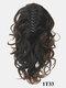 8 Colors Catch Clip Ponytail Hair Extensions Medium-Length Curly Chemical Fiber False Hair Pieces - #06