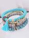 Vintage Multicolor Beautiful Opal Bracelet Temperament Multi-layer Tassel Bracelet - #06