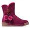 LOSTISY fivela fivela decoração zíper forro de pele botas de neve de inverno