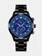 سبيكة غير القابل للصدأ أعمال فولاذية حزام كوارتز Watch تقويم ثنائي العين Watch - #04