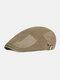 पुरुषों कपास चिथड़े रंग आकस्मिक फैशन Sunvisor फ्लैट टोपी आगे टोपी टोपी टोपी - हरा