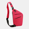 Men Oxford Luminous Multi-pockets Large Capacity Anti-theft Waterproof Crossbody Bag Chest Bag Sling Bag - Red1
