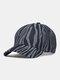 Unisex Denim Irregular Stripe Print Fashion Sun Protection Baseball Caps - Blue