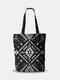 Frauen Leinwand Böhmen Ethnisches Muster Umhängetasche Handtasche Einkaufstasche - 13