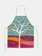 تنظيف نمط اللوحة النباتية Colorful مآزر الطبخ المنزلي مريلة مطبخ كوك ارتداء مرايل الكبار من القطن والكتان - #14